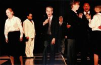 Sabine Goetz (Susanna), Michael Ende (Don Basilio), Frank Albrecht (Don Curzio), Hans Lydman (Graf Almaviva), Jaroslaw Sielicki (Don Bartolo), Derrick Lawrence (Figaro), Sibylle Fischer (Marzelline)  © Frank Heller