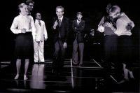 Sabine Goetz (Susanna), Jaroslaw Sielicki (Don Bartolo), Michael Ende (Don Basilio), Frank Albrecht (Don Curzio), Derrick Lawrence (Figaro), Sibylle Fischer (Marzelline) © Frank Heller